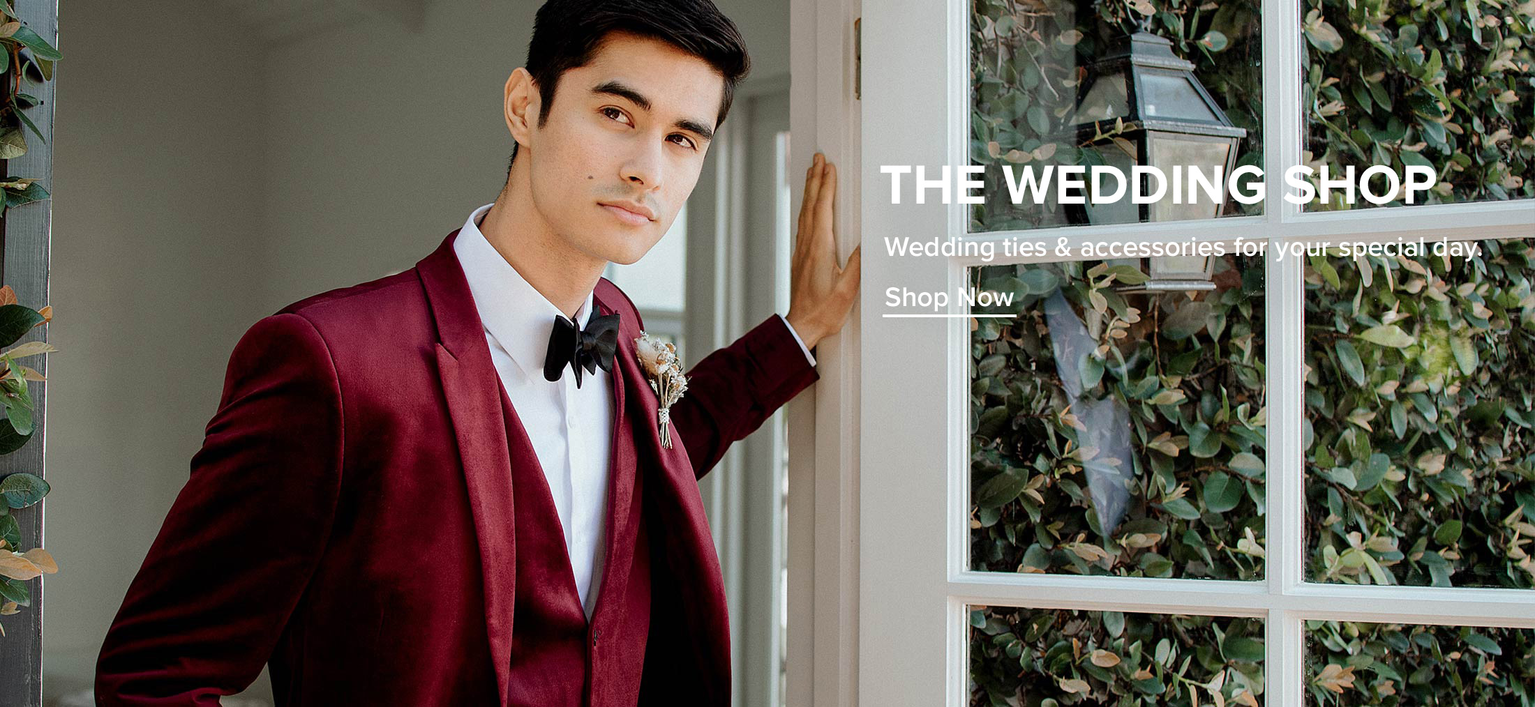Wedding ties & Accessories for your special day. Click to shop Wedding ties & accessories.