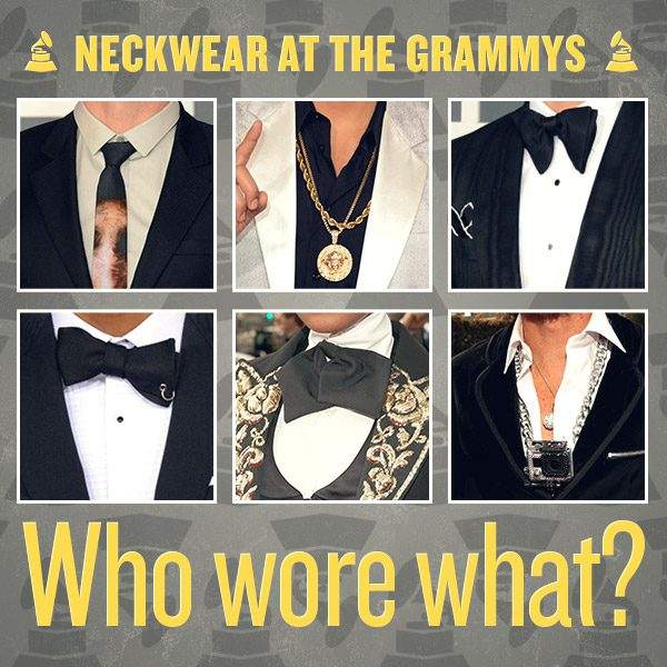 Neckwear at the Grammys