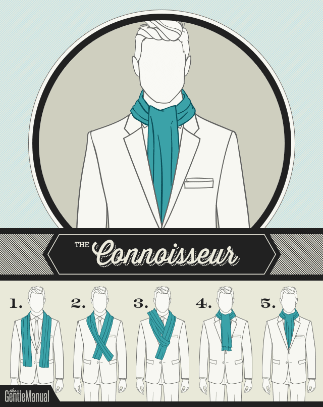 6 Ways to Wear a Men's Scarf: The Connoisseur