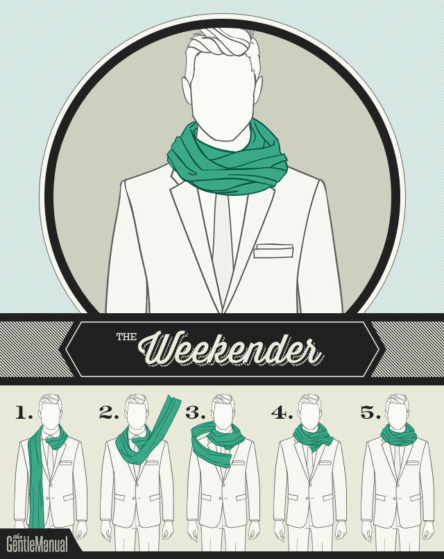 The Weekender scarf knot