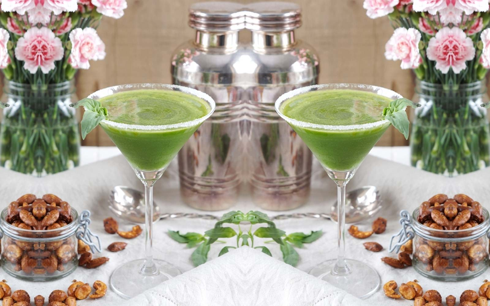 Basil Ginger Drop Martini