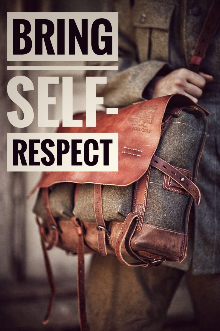 bring self-respect to college