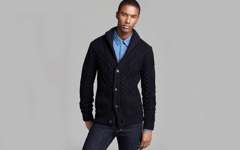 H&M men's cardigans sweater for office