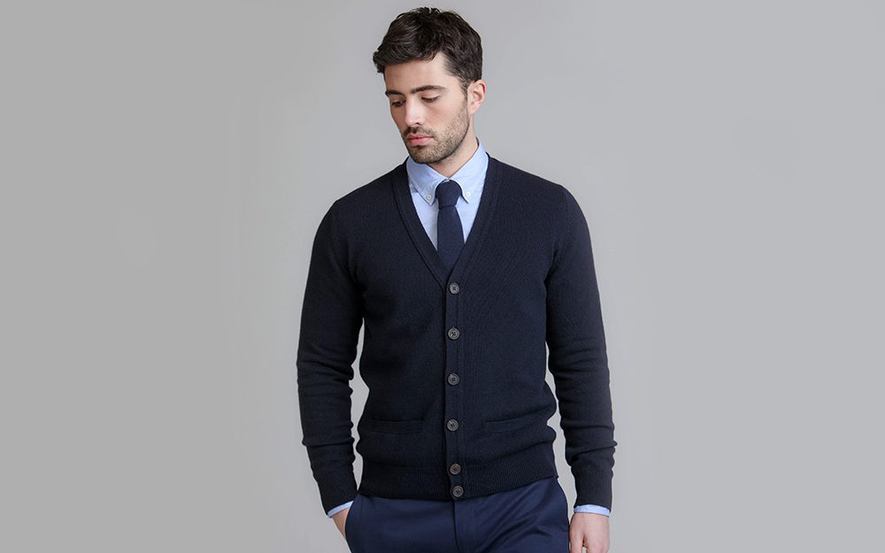 Men's Cardigans For Office Johnstons Of Elgin