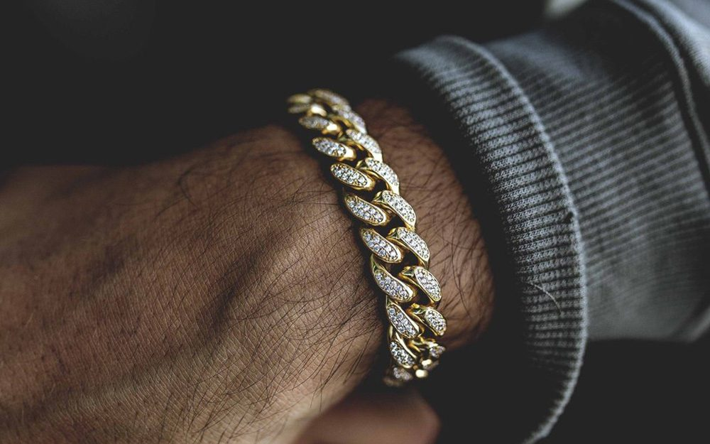 Mens Bracelets Gold Link Chain