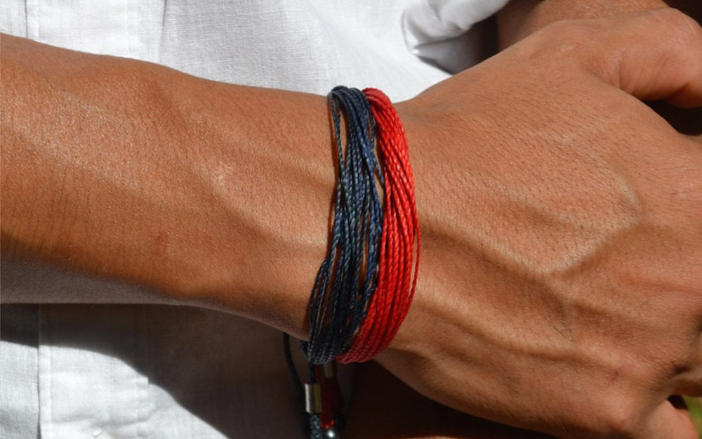 Mens Bracelets String and rope