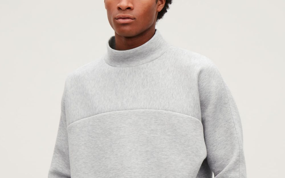 COS mock neck sweater
