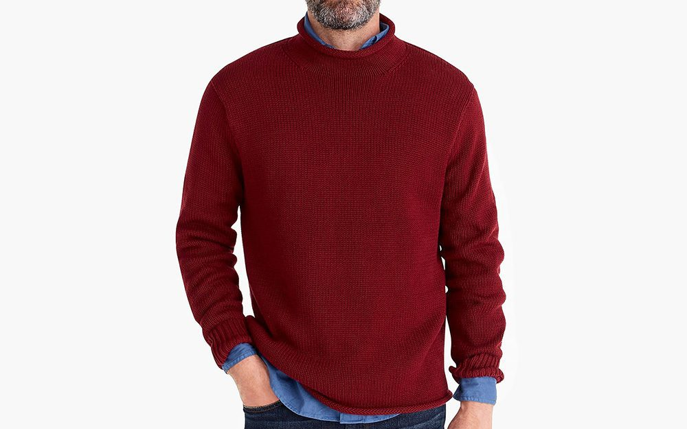 J Crew mock neck rolled neck layered
