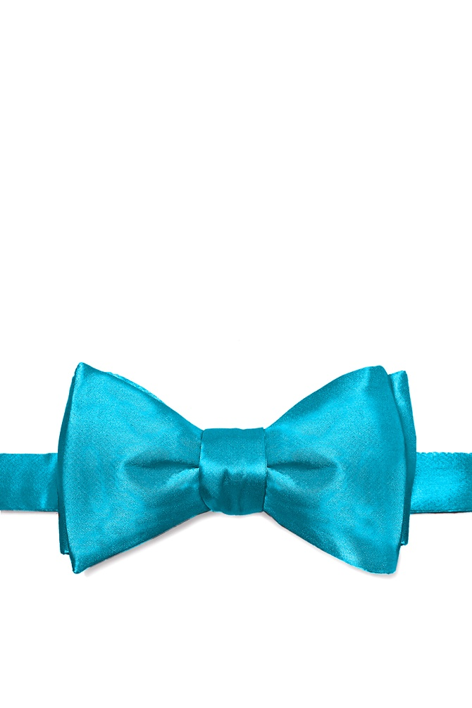 Neon Blue (Electric Blue) Self-Tie Bow Tie by Elite Solid -  Neon blue Silk The secret to dressing well is found in the little things the details. And one of the most important details for a man is the bowtie. Crisp and refined a well cared for bowtie knotted firmly about your neck is the mark of a man of sophistication. And it is this sort of sophistication found bustling within this all-silk men's bowtie. Rendered in a rich neon blue hue this elegant bowtie will get you noticed without distracting from your overall appearance. After all that's what good clothing should do Imported.