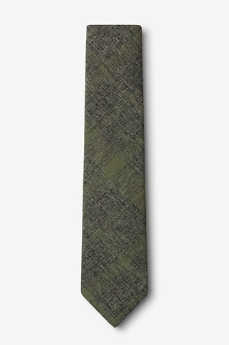 1960s Style Men's Clothing, 70s Men's Fashion Kirkland Skinny Tie by Ties.com -  Olive Cotton $20.00 AT vintagedancer.com
