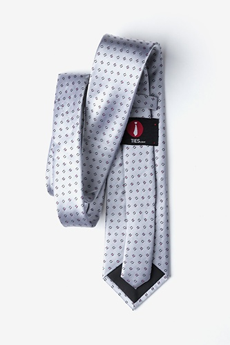 New Caledonia  Extra Long Tie by Ties.com -  Gray Silk