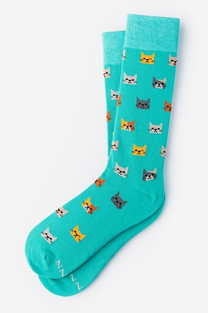 Not Kitten Around Aqua Sock