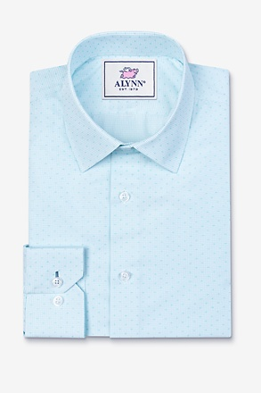 Evan Aqua Classic Fit Dress Shirt