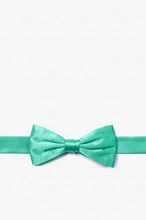 Aqua Bow Tie For Boys
