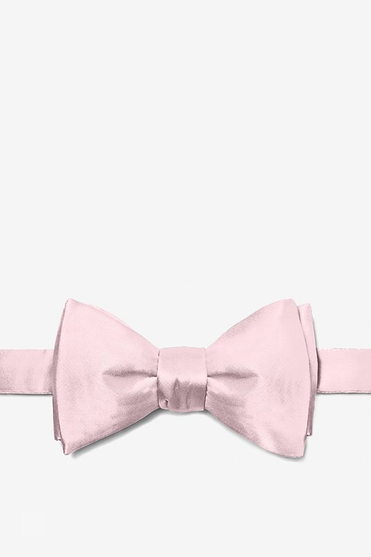 Baby Pink Self-Tie Bow Tie Photo (0)