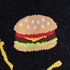 Hamburger Black Sock