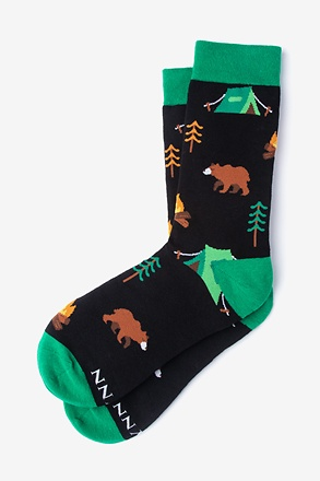 _Gone Campin' Black Women's Sock_