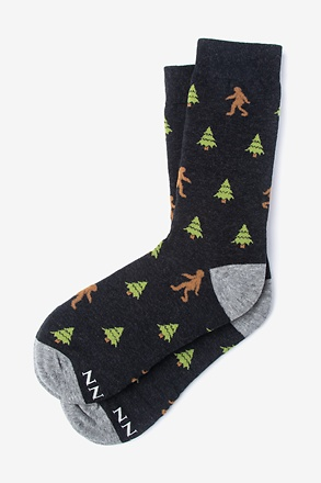 _Gone Sasquatchin' Black Women's Sock_