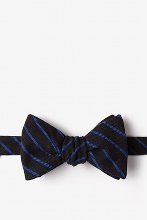 Arcola Black Self-Tie Bow Tie