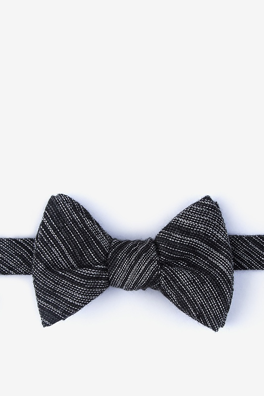 Bates Black Self-Tie Bow Tie Photo (0)