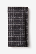 Black Cotton Glendale Pocket Square