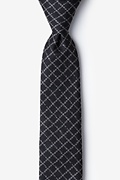 Black Cotton Glendale Skinny Tie