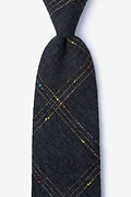 Black Cotton Hunter Extra Long Tie