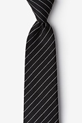 Black Cotton Lewisville Extra Long Tie
