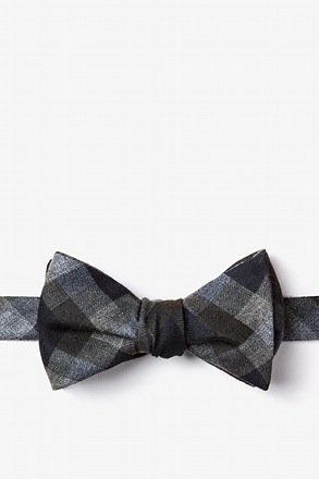 Richland Black Self-Tie Bow Tie