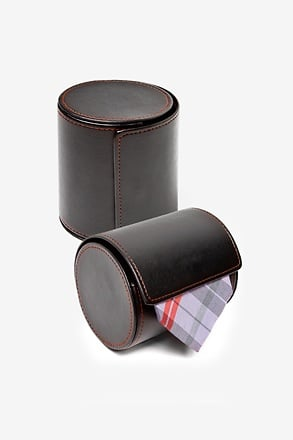 Leatherette Gift Roll Black Tie Case
