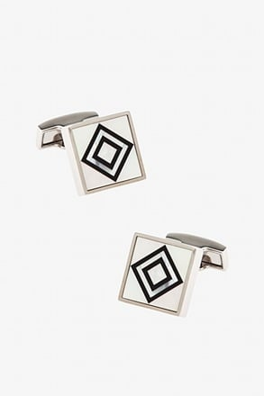 Central Focus Black Cufflinks