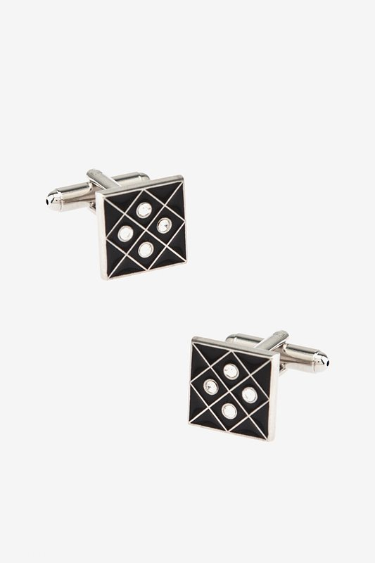 Four Points Square Black Cufflinks Photo (0)
