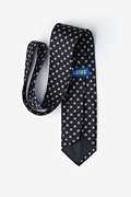 Christmas Skulls Black Extra Long Tie Photo (1)