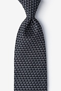 Pi Black Extra Long Tie Photo (0)