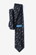 Pirate Skull and Swords Black Extra Long Tie Photo (1)