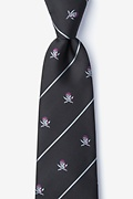 Pirate Skull and Swords Black Extra Long Tie Photo (0)