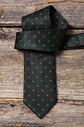 Shamrocks Black Extra Long Tie Photo (2)