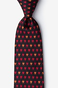 Black Silk Biohazard Extra Long Tie