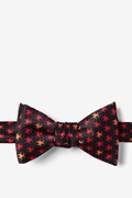 Black Silk Biohazard Self-Tie Bow Tie