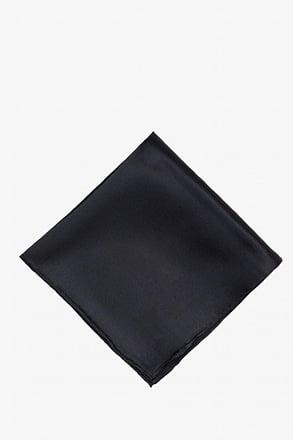 _Black Pocket Square_