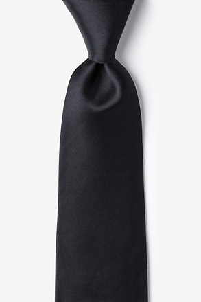 "The Essential Black 3"" Extra Long Tie"