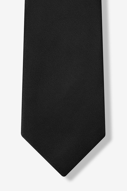 The Essential Black Extra Long Tie Photo (5)