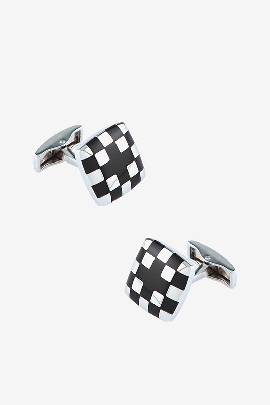 Cross Black Silver Cufflinks Photo (0)