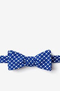 Blue Cotton Descanso Skinny Bow Tie