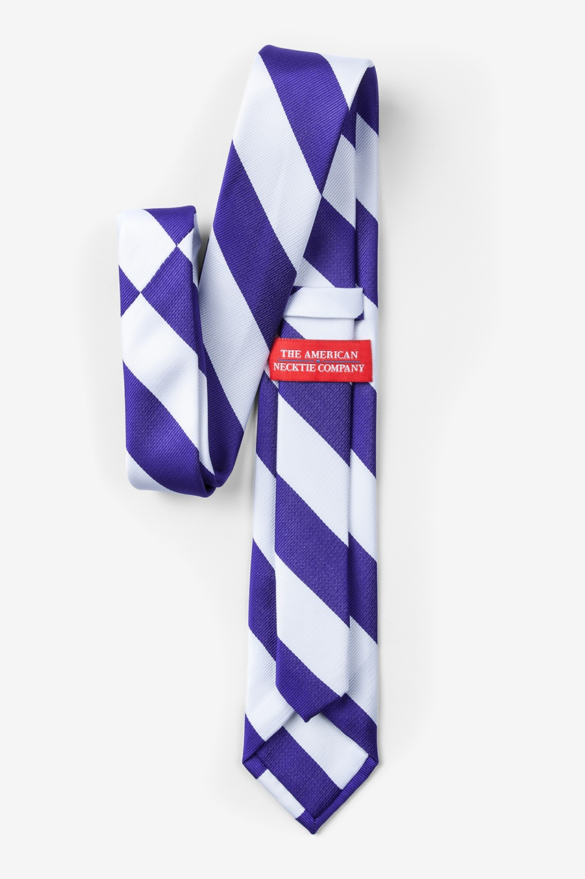 Blue & White Stripe Skinny Tie Photo (1)