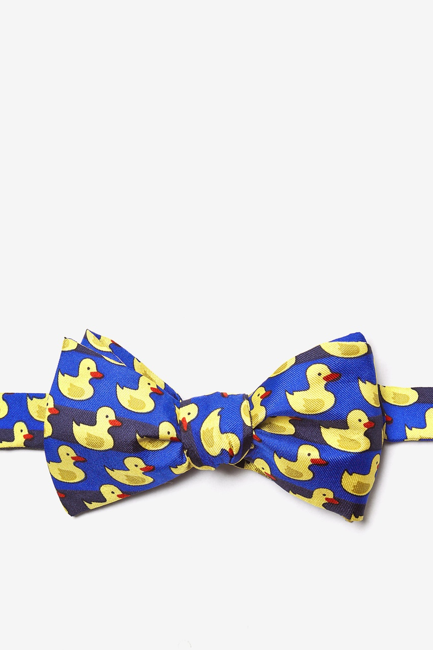 Rubber Duck Blue Self-Tie Bow Tie Photo (0)