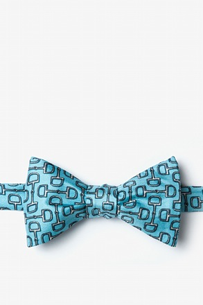 Bit by Bit Blue Self-Tie Bow Tie