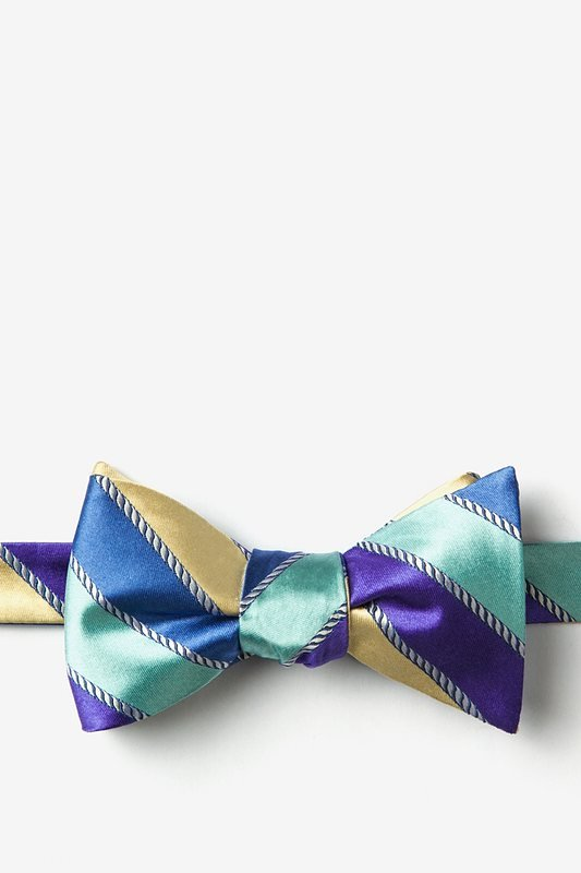 Know the Ropes Blue Self-Tie Bow Tie