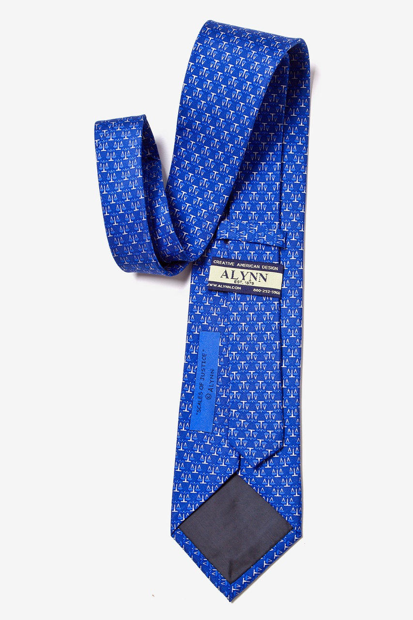 Scales Of Justice Blue Tie Photo (2)