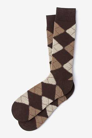 _Argyle Assassin Brown Sock_